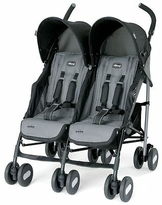 Chicco Echo Twin Baby Double stroller Coal NEW 2017 Auth Dealer