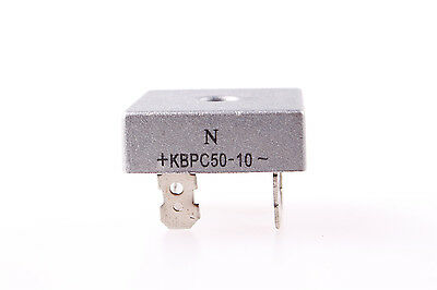 50A 1000V Metal Case Single Phases Diode Bridge Rectifier KBPC5010 New