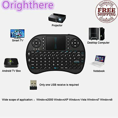 Mini Wireless Keyboard 2.4G with Touchpad Handheld Keyboard Lot XH