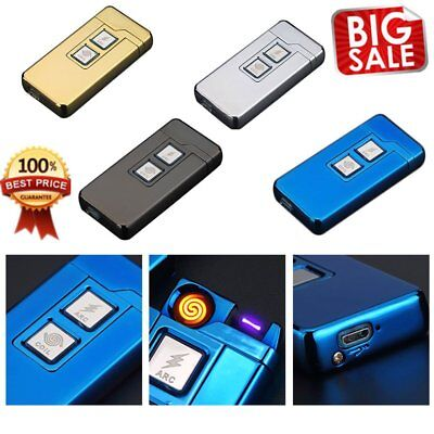 Electric  Rechargeable Lighter Cigarette Coil&Arc Plasma Windproof Flameless LII