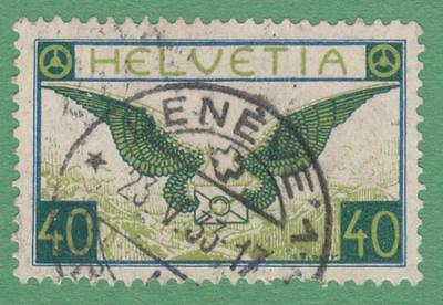 Switzerland #C14 used 40c Airmail no grill 1929 cv $82.50