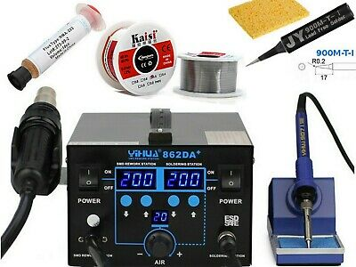 998D Hot Air Rework Soldering Station Special Tip Flux Absorber Wick Solder Wire