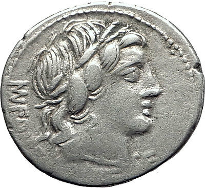 Roman Republic 85BC Ancient Silver Coin VEJOVIS Genius Zeus Mom Goat Gods i63484