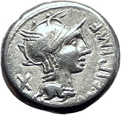 Roman Republic 115BC ROME Authentic Ancient Silver Coin VICTORY CHARIOT i63485