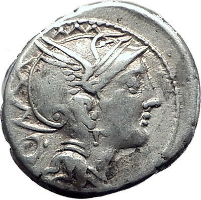 Roman Republic 111BC Rome Ancient Silver Coin GREEK WAR CHARIOT Victory i63486