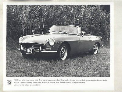 1971 MG MGB ORIGINAL Factory Photograph wy4265