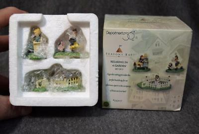 Department 56 Seasons Bay Relaxing In A Garden Set of 3 NIB 53307