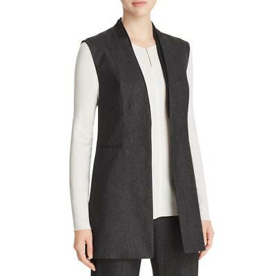 Elie Tahari 6244 Womens Knit Hook Sleeveless Casual Vest Outerwear BHFO