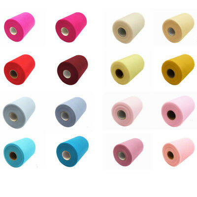 "6"" 25 /100Yds Tulle Spool fabric Rolls Tutu Dress Wrap Wedding Supplies Decor"