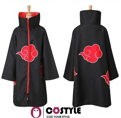 Anime NARUTO Uchiha Itachi Cosplay Costume Ninja Wind Coat Cloak set US SHIP !!!