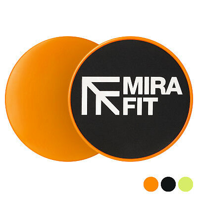 Mirafit 2 x Dual Sided Core Sliders Gliding Fitness Discs Ab Training Exercise