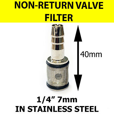 Detergent FILTER Stainless Steel - 7mm with NON RETURN VALVE - KARCHER type K HD