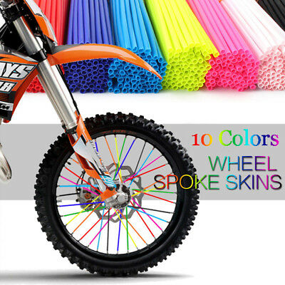 Wheel Spoke Wraps Kit Rims Skins Covers Guard Protector Motocross Dirt Bike ES