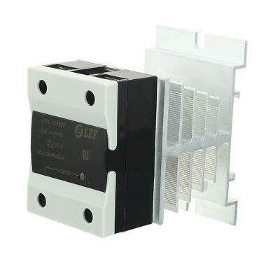 25A DC/DC 5-32V to 12-250V SSR Thermal Compound Solid State Relay + Heat Sink