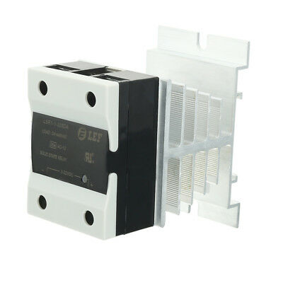 25A 3-32VDC to 24-440AC SSR Thermal Compound Solid State Relay + Heat Sink