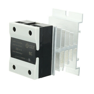 10A 3-32VDC to 24-440AC SSR Thermal Compound Solid State Relay + Heat Sink