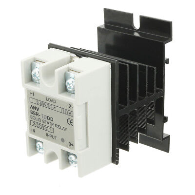 SSR-10DD 10A DC3-32V to DC5-60V Solid State Relay + Heat Sink + Thermal Compound
