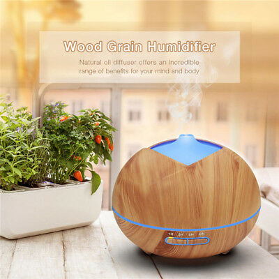 LED Ultrasonic Aroma Diffuser Essential Oil Humidifier Air Purifier Aromatherapy