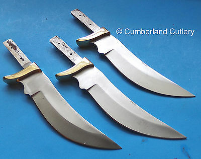 Lot of 3 Knife Making Blade Blanks - Custom Hunting Skinning