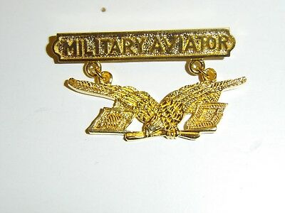 b0427 US Army Pilot Badge 1st model circa 1911 Aviator IR30D