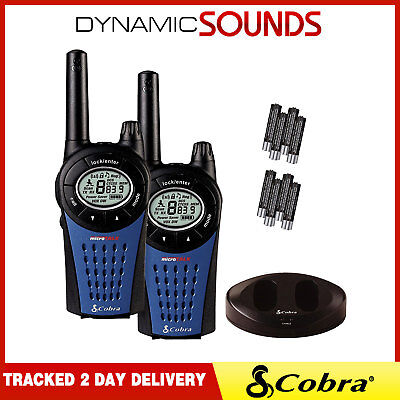 Cobra MT975 MicroTalk Walkie-Talkie Radios Twin Pack Rechargeable with Batteries