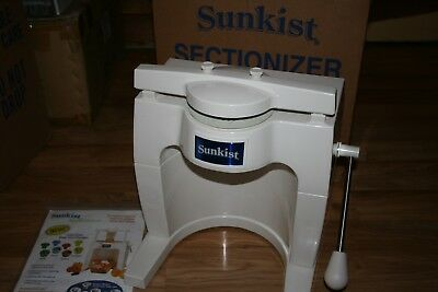 Sunkist S-100 Sectionizer & S-4B 6 Slice Blade Cup Commercial Wedger Cutter IOB