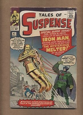 Tales of Suspense 47 (Solid!) 1st app. Melter; Iron Man; Kirby; Ditko (c#15378)