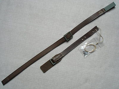 German WWI helmet chinstrap leather - late