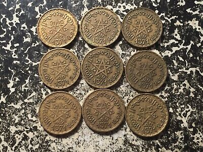 AH 1371 1952 Morocco 10 Francs (9 Available) Circulated (1 Coin Only)