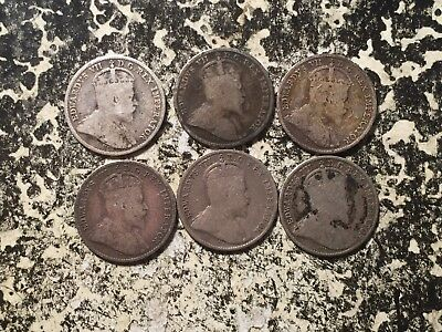 1910 Canada 5 Cent (6 Available) Circulated (1 Coin Only) Silver!