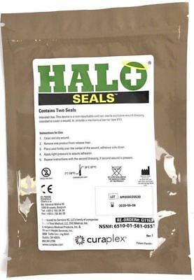 Halo Chest Seals (2 Per Package) Exp June 2020 or Later, Army Military Issue