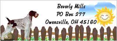 German Wirehaired Pointer  120 pieces address labels & envelope seal laser print