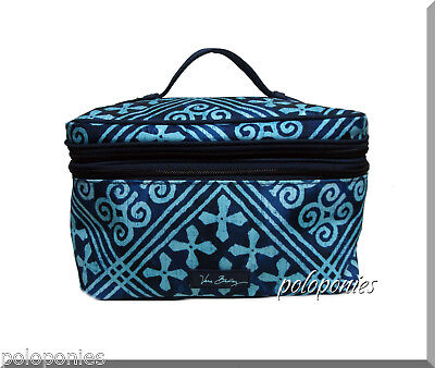 VERA BRADLEY Lighten Up Brush Up Cosmetic Case - Cuban Tiles NWT