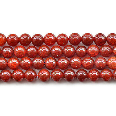 """Natural Red Agate Crazy Lace Gemstone Round Spacer Loose Beads 15"""" 6mm 8mm 12mm"""