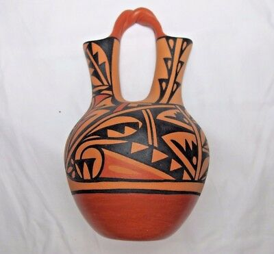 New Mexico Pottery Wedding Vase By S Chimo Acoma Pueblo 29999