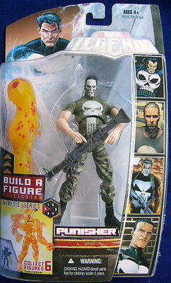 "2007 Hasbro Marvel Legends (Nemesis) Series Punisher Skull 6"" Action Figure Moc"