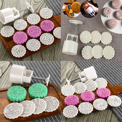 50g/75g/100g/125g Moon Cake Mold Mooncake Mould Flower Stamps Pastry Baking Tool