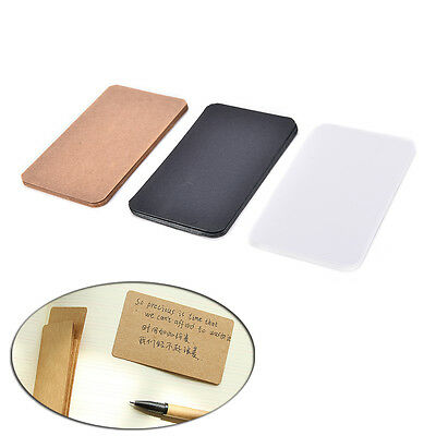 100Pcs Blank Trading Business Wood Cards Label Tag Name Card 90 x 53mm DIY tb