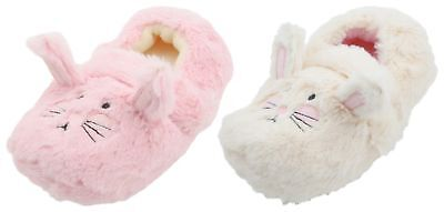 Slumberzzz Girls Plush Rabbit Easy Fastening Full Slipper