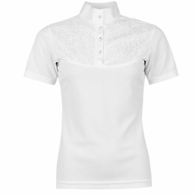 Just Togs Womens Classique Show Shirt Top Competition Swarovski Short Sleeve