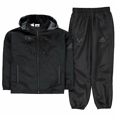 adidas Kids Boys Messi Tracksuit Junior Lightweight Hooded Zip ClimaLite Mesh