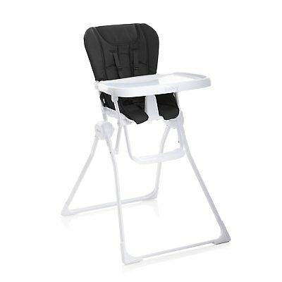 Joovy Nook Adjustable Swing-Open Tray Padded Folding Baby High Chair, Black