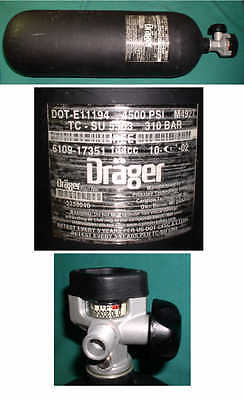 DRAGER SCBA TANK 4500PSI DOT-E11194 M4927 mfd 2002 carbon fiber fire scuba air