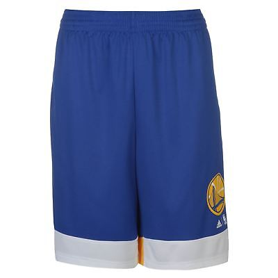 adidas Mens Winter Hoops Golden State Warriors Basketball Shorts Pants Trousers