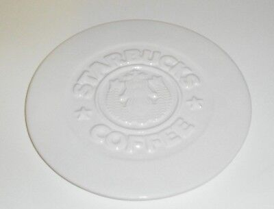 "Vintage Starbucks Coffee White 8.5"" Heavy Trivet  ~ Highwave Inc Porcelain USA"