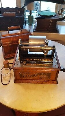 Antique Columbia HG Home Grand Concert Cylinder Phonograph- Project