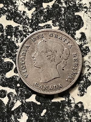 1871 Canada 5 Cents Lot#7886 Silver!