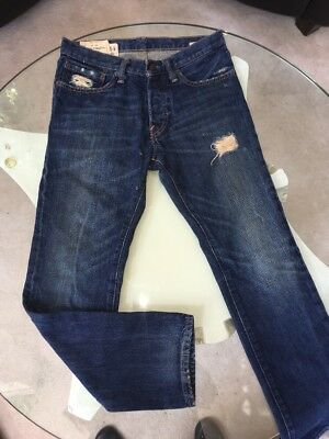 Boys Abercrombie 14 Rollins Low Rise Skinny Jeans Pants  Buttonfly