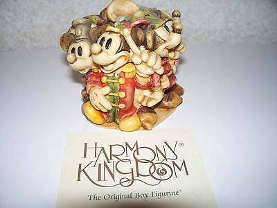 Disney Harmony Kingdom Box Mickey Mouse Figurine Through The Years 2000 Marble