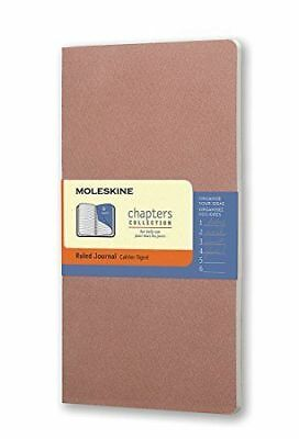 """Moleskine Chapters Collection Ruled Journal, Slim Medium, Rose 3 3/4 x 7"""""""